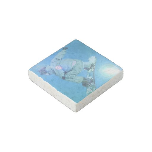 Snowboarder Stone Magnet