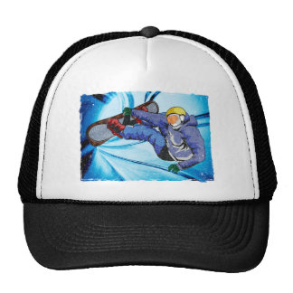 Snowboarder in Edgy Snowstorm Cap