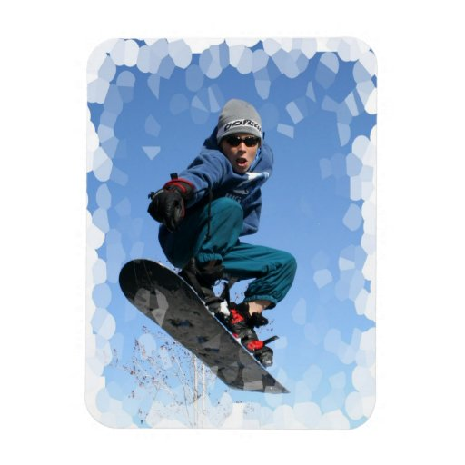 Snowboarder in Snow Magnet Magnet