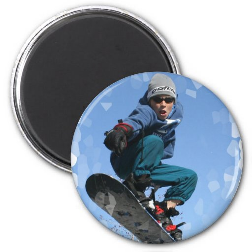 Snowboarder in the Snow Magnet Fridge Magnets