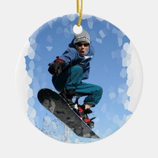 Snowboarder in the Snow Ornament
