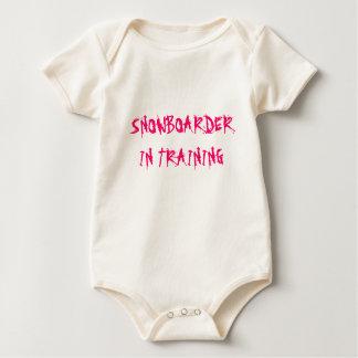 SNOWBOARDER IN TRAINING BABY BODYSUIT