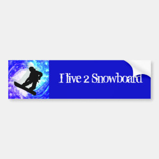 Snowboarder in Whiteout Car Bumper Sticker