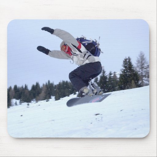 Snowboarder Jump Mouse Pads
