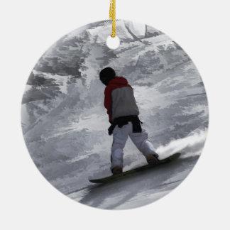 "Snowboarder ""just cruisin'"" Winter Sports Gift Christmas Ornament"