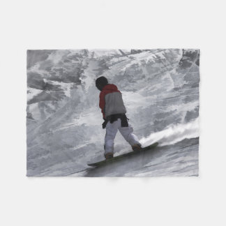 "Snowboarder ""just cruisin'"" Winter Sports Gift Fleece Blanket"