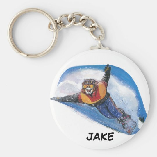 Snowboarder Keychain - Personalised