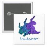 Snowboarder Logo Square Pin