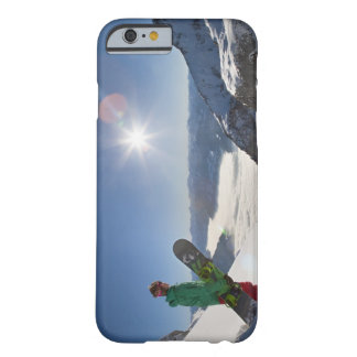 Snowboarder looking from mountain top barely there iPhone 6 case