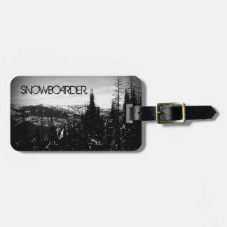 Snowboarder Luggage Tag