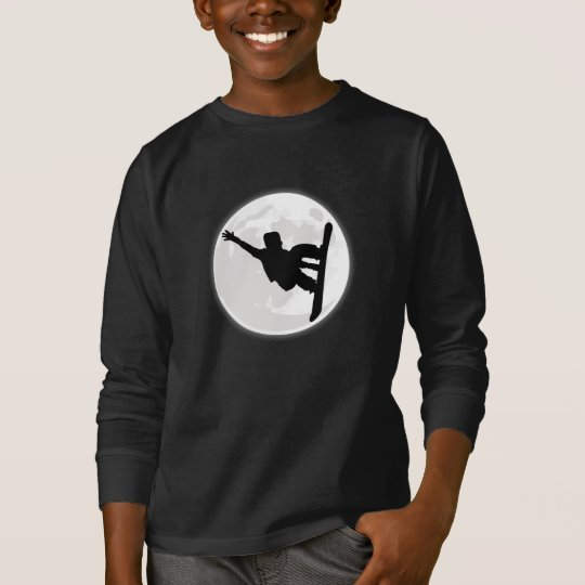 Snowboarder Moon T-Shirt