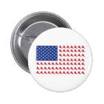 Snowboarder-Patriotic-Flag 6 Cm Round Badge