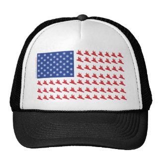Snowboarder-Patriotic-Flag Mesh Hats