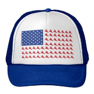 Snowboarder-Patriotic-USA-Flag Cap