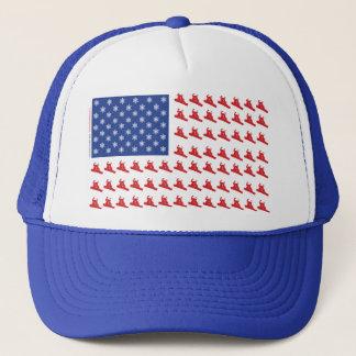 Snowboarder-Patriotic-USA-Flag Trucker Hat