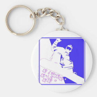 Snowboarder/Pop Art Keychains