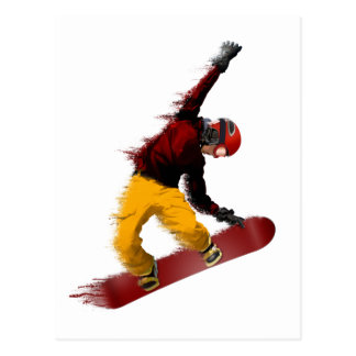 Snowboarder Post Card