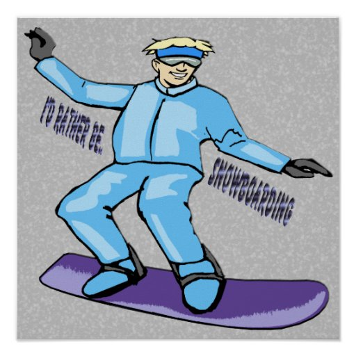 Snowboarder Poster