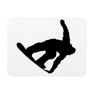 Snowboarder Rectangular Magnet