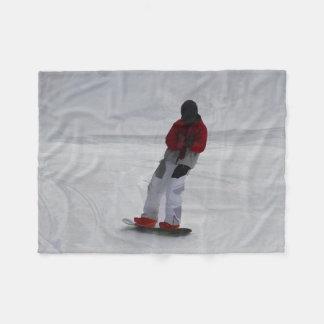 "Snowboarder ""preparing to ski'"" Winter Sports Gift Fleece Blanket"