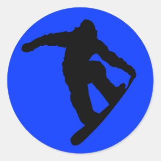 Snowboarder Round Sticker