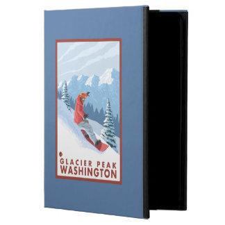 Snowboarder Scene - Glacier Peak, Washington Cover For iPad Air