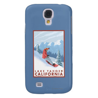 Snowboarder Scene - Lake Tahoe, California Galaxy S4 Case