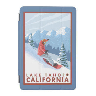 Snowboarder Scene - Lake Tahoe, California iPad Mini Cover