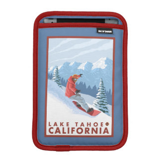 Snowboarder Scene - Lake Tahoe, California iPad Mini Sleeve