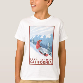 Snowboarder Scene - Lake Tahoe, California T-Shirt