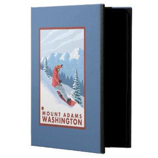 Snowboarder Scene - Mount Adams, Washington Case For iPad Air