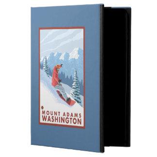 Snowboarder Scene - Mount Adams, Washington Cover For iPad Air
