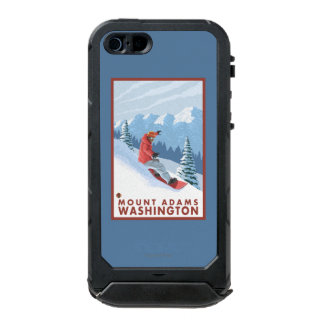 Snowboarder Scene - Mount Adams, Washington Incipio ATLAS ID™ iPhone 5 Case