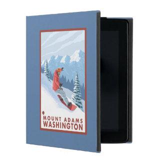 Snowboarder Scene - Mount Adams, Washington iPad Folio Case