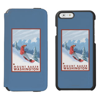 Snowboarder Scene - Mount Baker, Washington Incipio Watson™ iPhone 6 Wallet Case