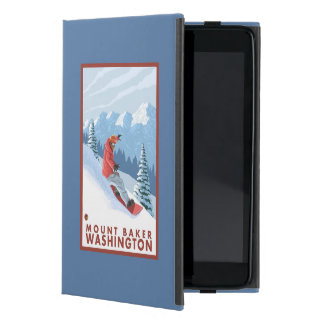 Snowboarder Scene - Mount Baker, Washington iPad Mini Case