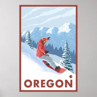 Snowboarder Scene - Oregon Poster