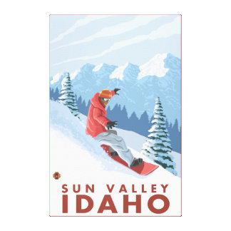 Snowboarder Scene - Sun Valley, Idaho Canvas Print
