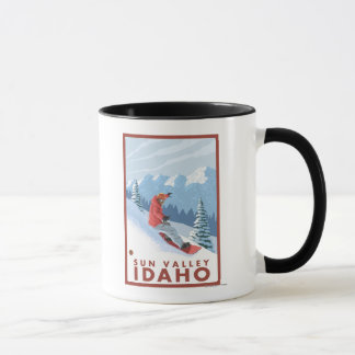 Snowboarder Scene - Sun Valley, Idaho Mug