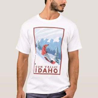 Snowboarder Scene - Sun Valley, Idaho T-Shirt