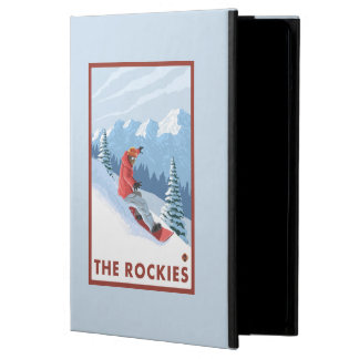 Snowboarder Scene - The Rockies Case For iPad Air