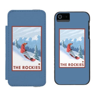 Snowboarder Scene - The Rockies Incipio Watson™ iPhone 5 Wallet Case