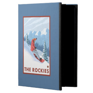 Snowboarder Scene - The Rockies iPad Air Cover