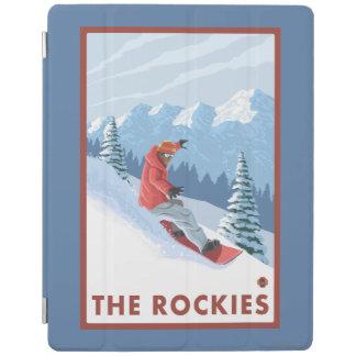 Snowboarder Scene - The Rockies iPad Cover