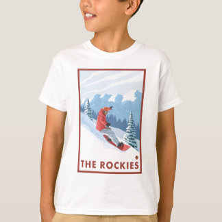 Snowboarder Scene - The Rockies T-Shirt