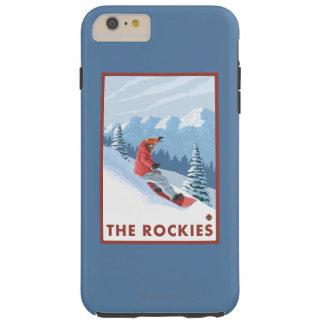 Snowboarder Scene - The Rockies Tough iPhone 6 Plus Case