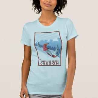 Snowboarder Scene - Timberline Lodge, Oregon T-Shirt