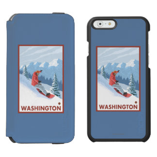 Snowboarder Scene - Washington Incipio Watson™ iPhone 6 Wallet Case