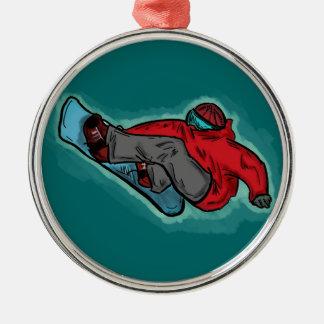 Snowboarder shred ornament