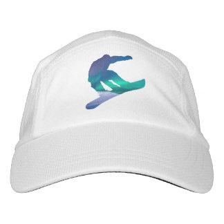 Snowboarder Silhouette Northern Lights Hat